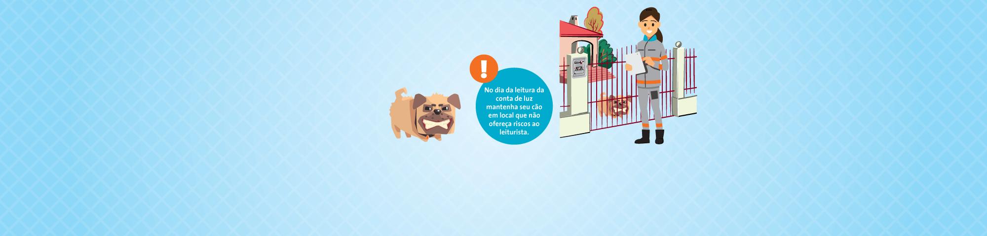Evite ataques de cães ao leiturista! Seu cuidado, nossa proteção.
